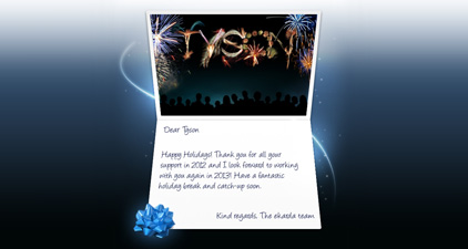 Happy Holidays Fireworks eCard for Business