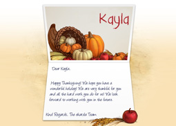 Thanksgiving Cornucopia eCard for Business