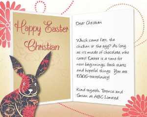 Easter Bunny eCard for Business