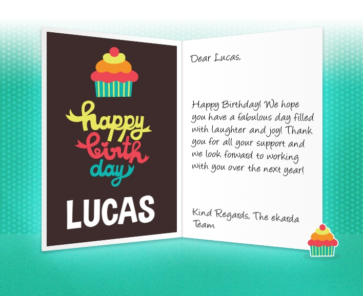 professional birthday ecards for business, Birthday card