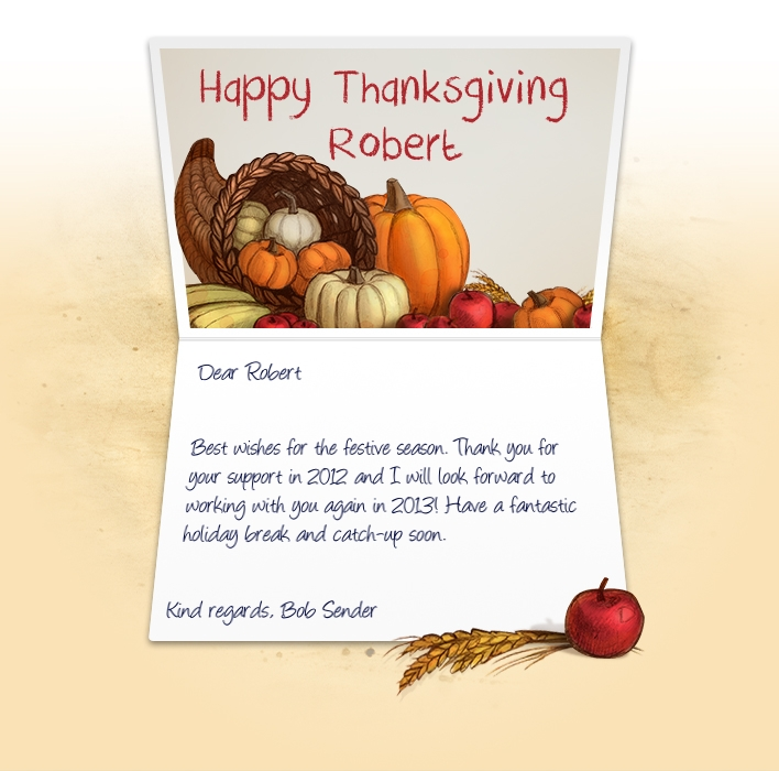 Professional Thanksgiving eCards for business