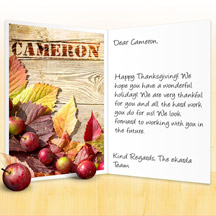Image of Thanksgiving Business eCard with Apples-and-Leaves