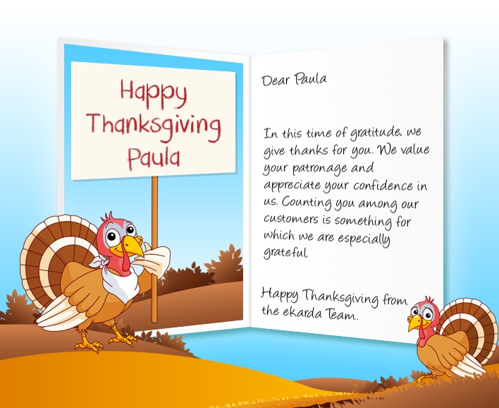 Professional thanksgiving ecards for business image of thanksgiving business ecard with turkey and sign m4hsunfo