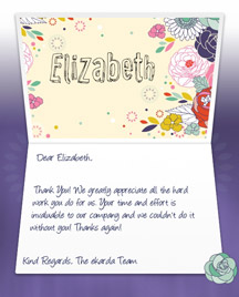 Image of Thank you Business eCard with Flowers