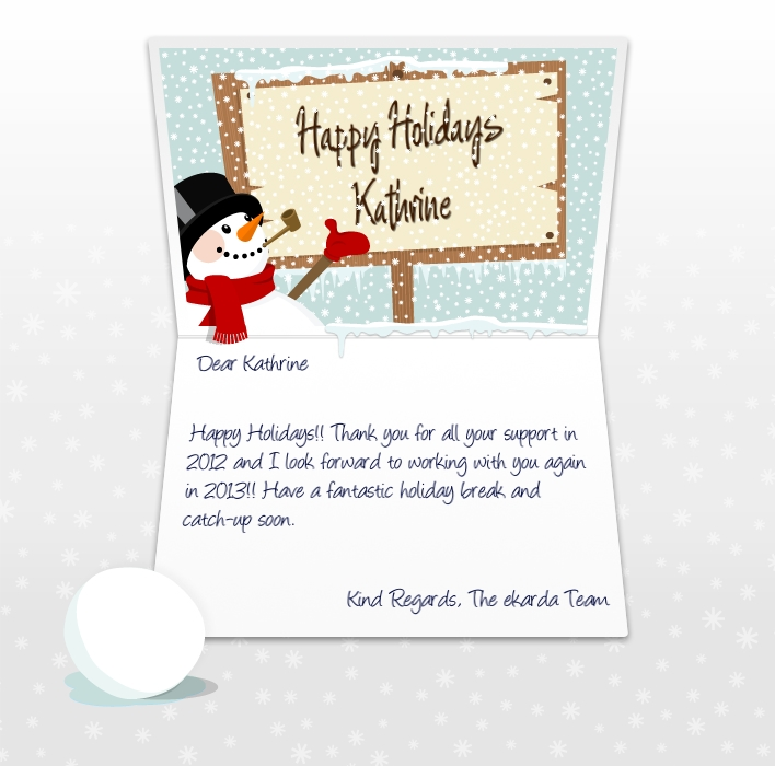 Professional Happy Holidays eCards for business / corporates