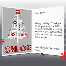 Image of Business Christmas Holidays eCard with Absract Tree