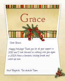 Image of Business Christmas Holidays eCard with Antique Note