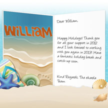 Image of Business Christmas Holidays eCard with Beach Holidays