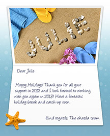Image of Business Christmas Holidays eCard with Beach