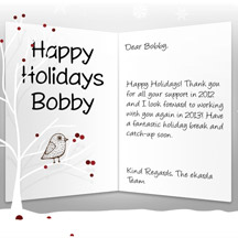 Image of Business Christmas Holidays eCard with Bird in Tree