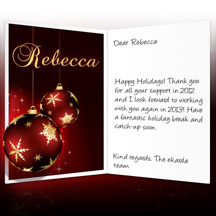 Image of Business Christmas Holidays eCard with Christmas Baubles