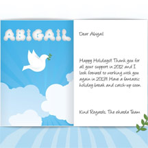 Image of Business Christmas Holidays eCard with Dove