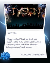 Image of Business Christmas Holidays eCard with Fireworks