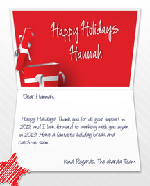 Image of Business Christmas Holidays eCard with Happy Holidays Gift
