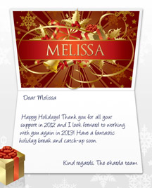 Image of Business Christmas Holidays eCard with Red Banner