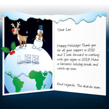 Image of Business Christmas Holidays eCard with Reindeer and Snowman