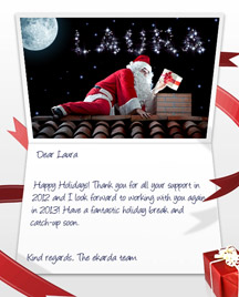 Professional christmas ecards for business image of business christmas holidays ecard with santa and stars m4hsunfo