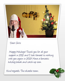 Image of Business Christmas Holidays eCard with Santa with Mic