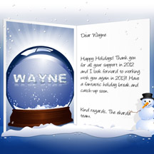 Image of Business Christmas Holidays eCard with Snow Dome