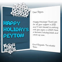 Image of Business Christmas Holidays eCard with Snowflake Message