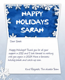 Image of Business Christmas Holidays eCard with Snowflakes