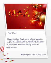 Image of Business Christmas Holidays eCard with Stars and Balls
