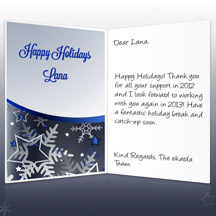 Image of Business Christmas Holidays eCard with Stars and Snowflakes