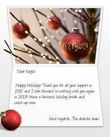 Image of Business Christmas Holidays eCard with Tree and Balls