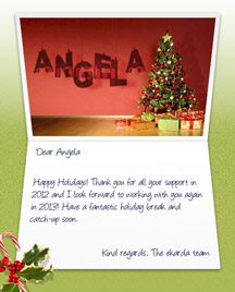 Image of Business Christmas Holidays eCard with Tree and Gifts