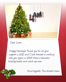 Image of Business Christmas Holidays eCard with White Wall