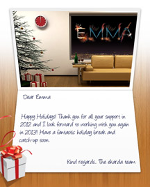 Image of Business Christmas Holidays eCard with Window Fireworks